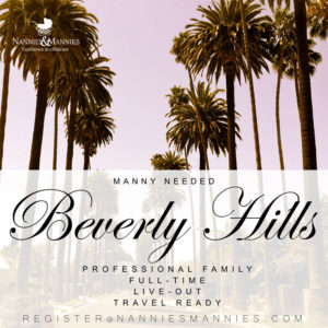 Full-Time Live-Out Manny Needed Beverly Hills