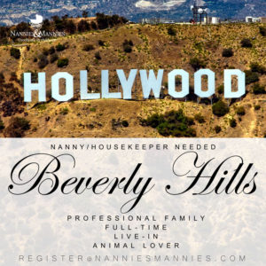 Full-Time Live-in Nanny Needed Beverly Hills