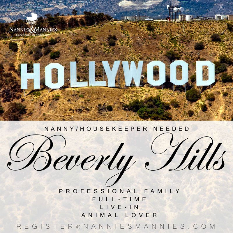 Full-Time Live-in Nanny Needed, Beverly Hills