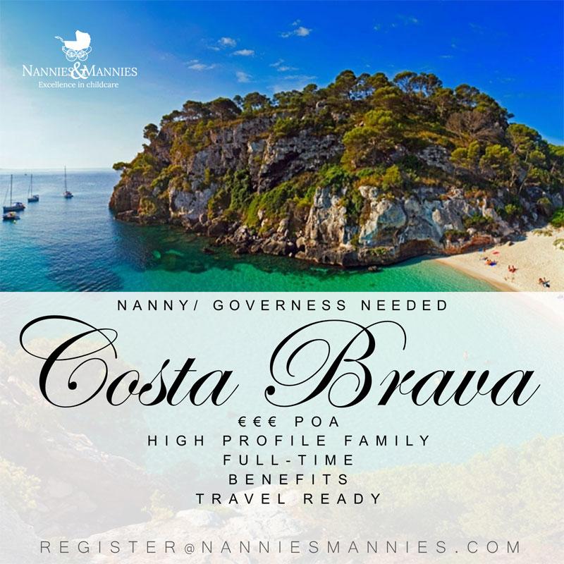 Nanny jobs, Costa Brava, Spain