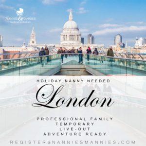 Temporary nanny needed London