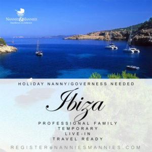 Full-time/Live-in Holiday Nanny/Governess Needed - Ibiza