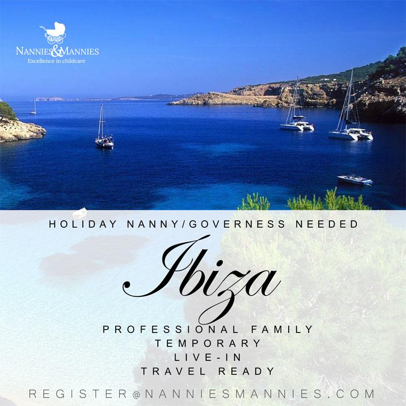 Holiday Nanny/Governess Needed Ibiza